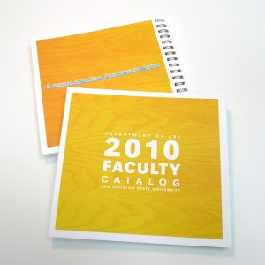 SHSU ART FACULTY CATALOG cover